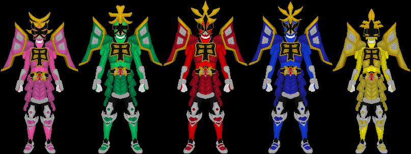 807x302 Power Rangers Samurai, All Shogun Mode By Taiko554