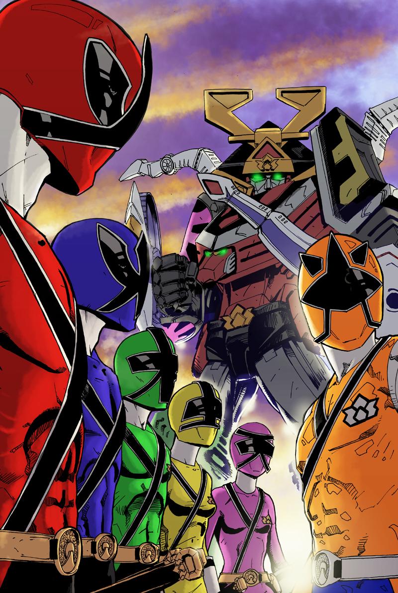 800x1192 Power Rangers Samurai By Diabolicol