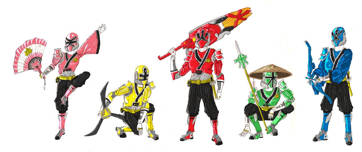1379x579 Samurai Rangers Advanced By Baddogg
