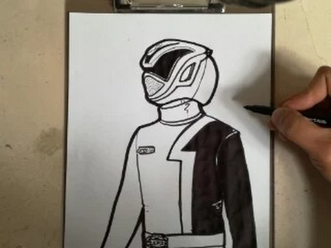 480x360 How To Draw Power Ranger S.p.d.