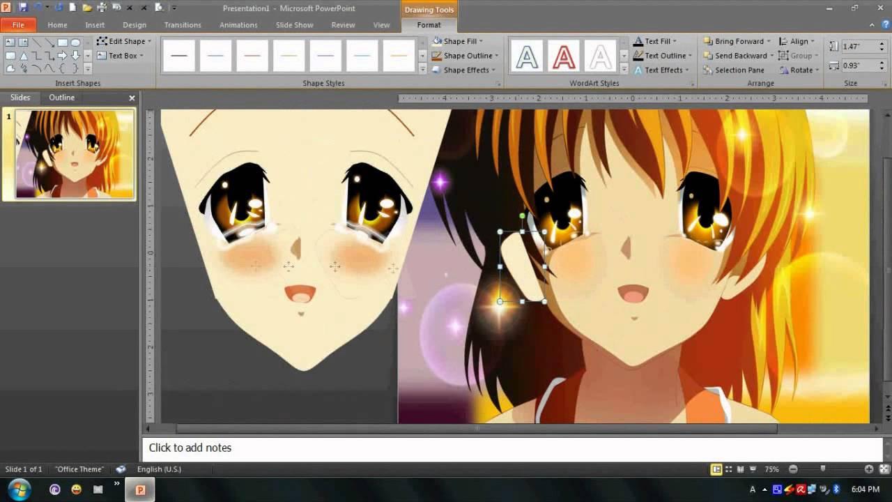 1280x720 Drawing Nagisa Furukawa In Powerpoint