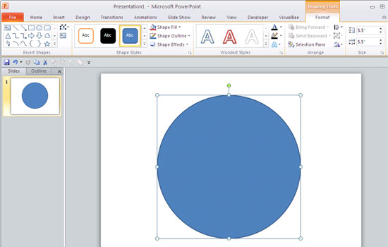 550x350 Drawing Target Diagram In Powerpoint 2010 For Windows