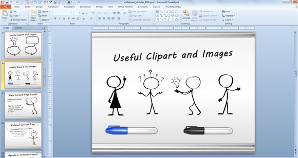 580x308 Whiteboard Symbols Powerpoint Templates For Presentations