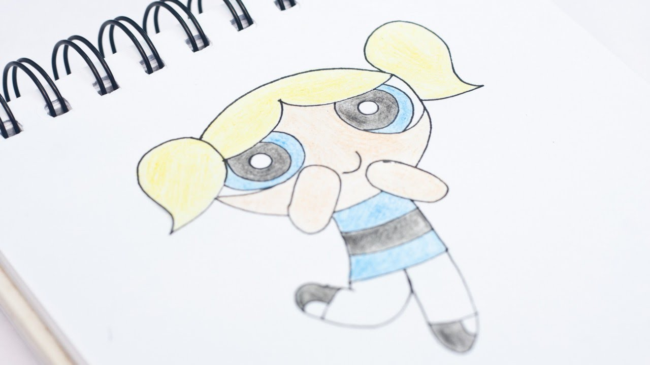 1280x720 Easily Draw Bubbles Of Powerpuff Girls