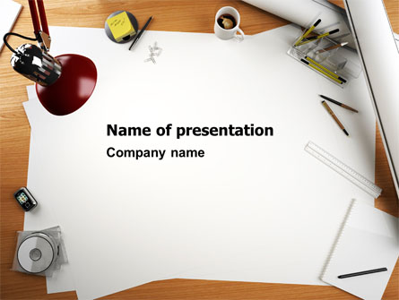 445x335 Drawing Board Powerpoint Template, Backgrounds 07165