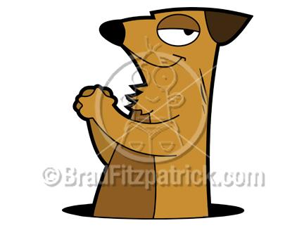 432x324 Cartoon Prairie Dog Clipart Character Royalty Free Prairie Dog