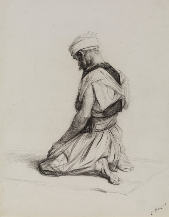 575x736 Arab Kneeling In Prayer The Walters Art Museum Works Of Art