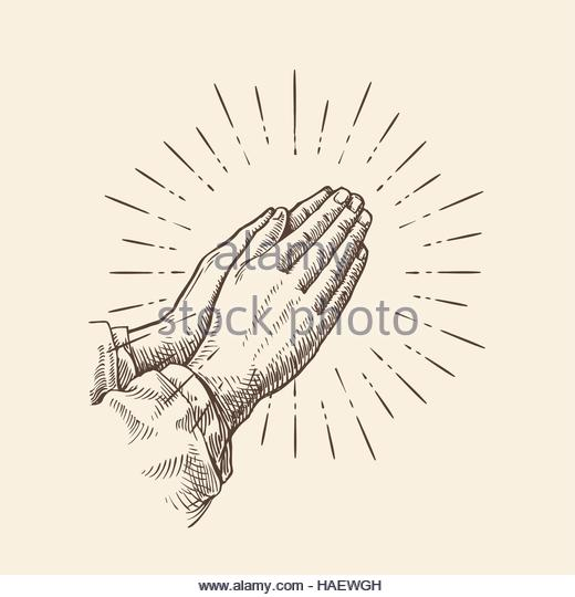 520x540 Hands Prayer Drawing Stock Photos Amp Hands Prayer Drawing Stock