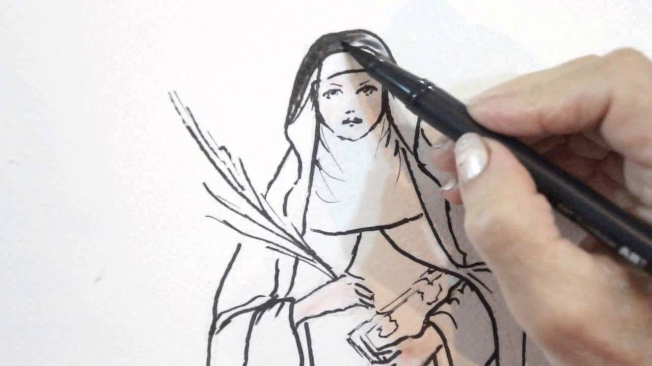 1280x720 Saint Catherine Of Bologna Patron Of Artists Live Drawing Amp Prayer