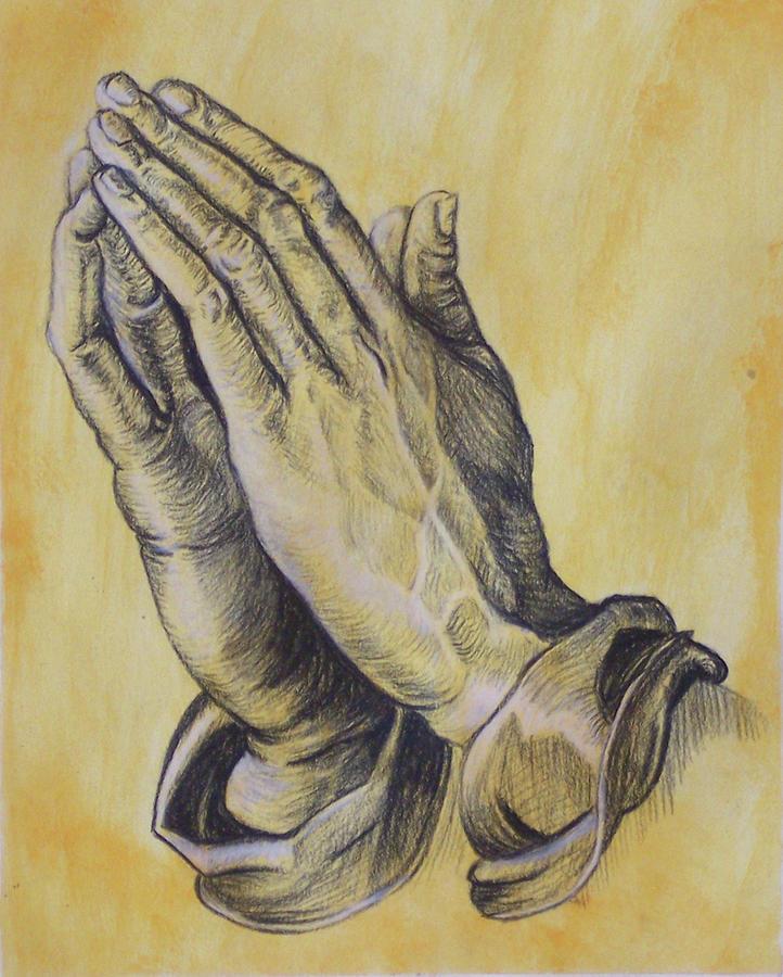 722x900 Praying Hands Drawing By Donovan Hubbard