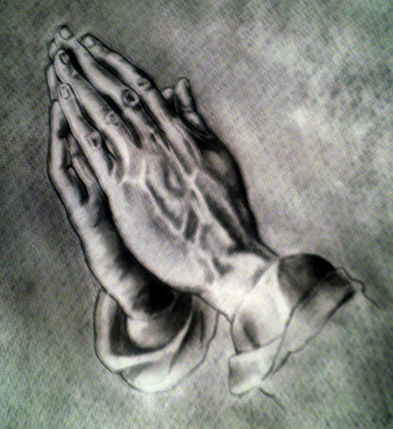 800x875 The Praying Hands By Rizb0