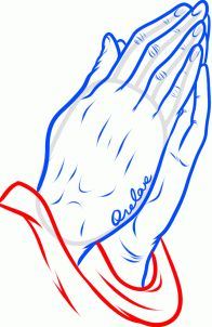 196x302 How To Draw Praying Hands Tattoo Step 10 Drawings