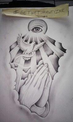236x393 Religeous Dove Praying Hands Drawing Artwork Prayer