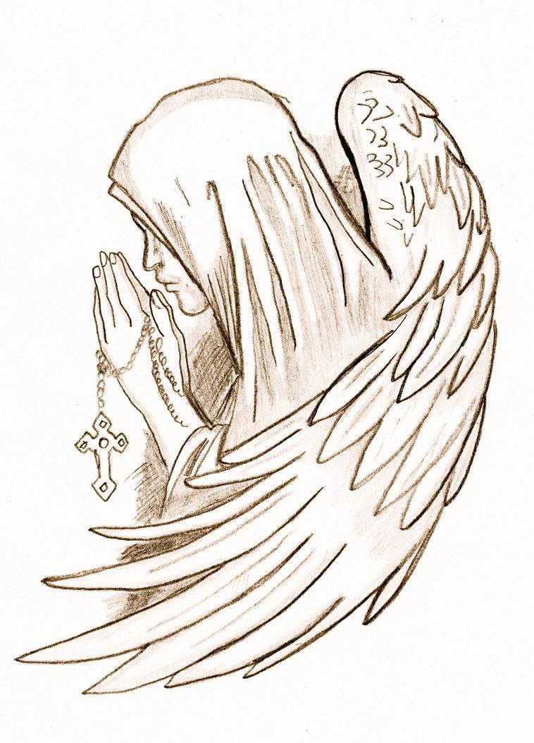 758x1054 Praying Angel By Peaches1993