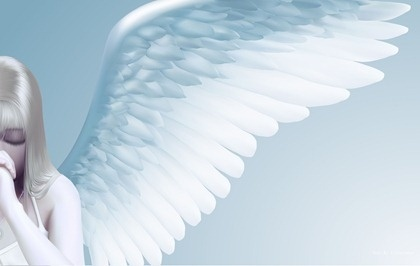 420x266 Praying Angel Drawing Bright Realistic Style Design Free Vector