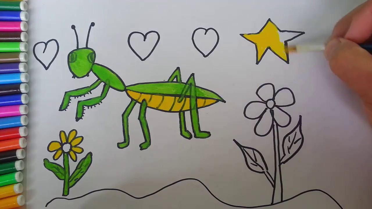 1280x720 How To Draw A Praying Mantis For Kids