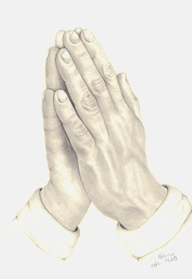 620x900 Praying Hands Drawing By Patricia Hiltz