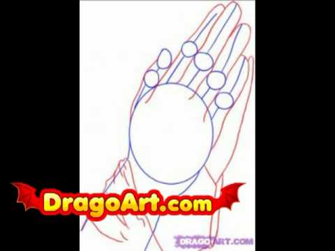 480x360 How To Draw Praying Hands, Step By Step