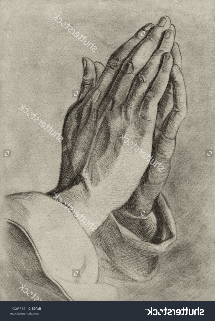 687x1024 Pencil Drawing Of Praying Hands