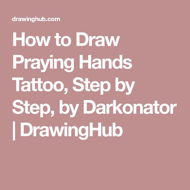 640x640 How To Draw Praying Hands Tattoo, Step By Step, By Darkonator