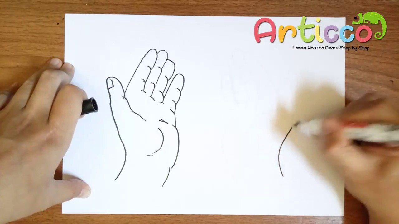 1280x720 How To Draw Praying Hands For Kids Step By Step