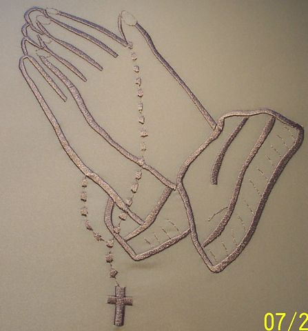 447x480 Praying Hands With Rosary Beads Clip Arts And Cross Coloring Pages