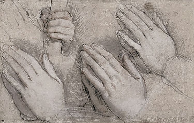 750x478 Barocci,praying Hands And A Hand Holding A Wand Hands Amp Feet
