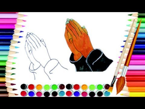 480x360 How To Draw Praying Hands Pray Hands Learning Draw Amp Color