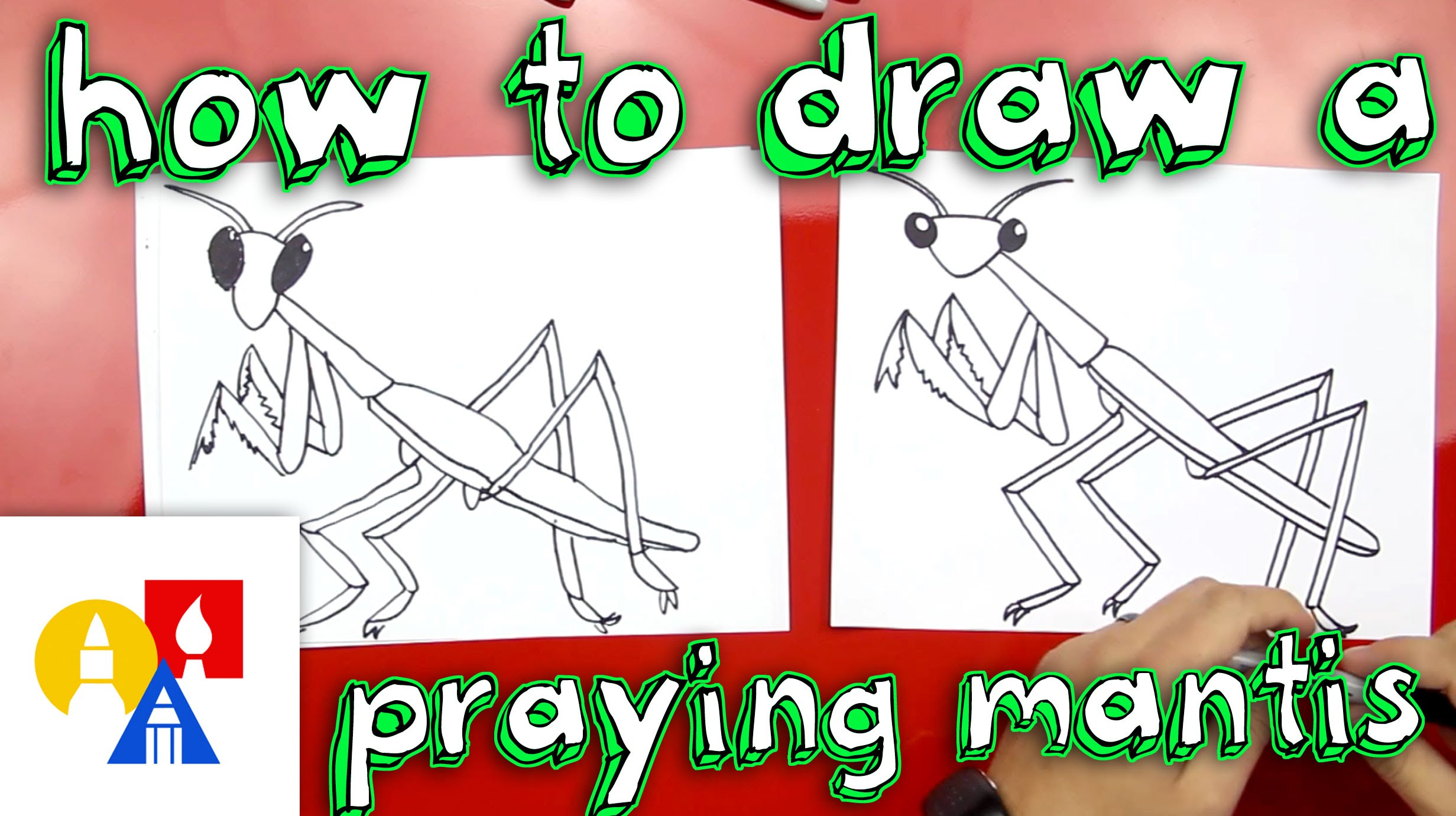 2463x1381 How To Draw A Praying Mantis
