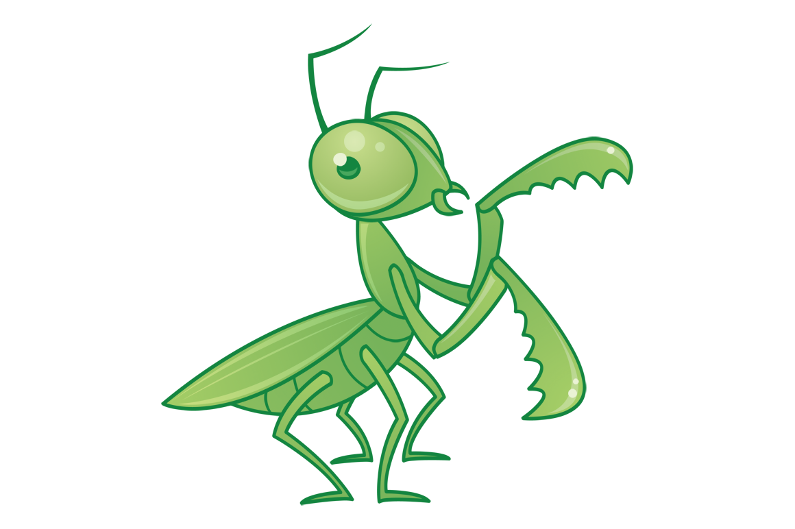 1160x772 Praying Mantis Cartoon Character By Fizzgig