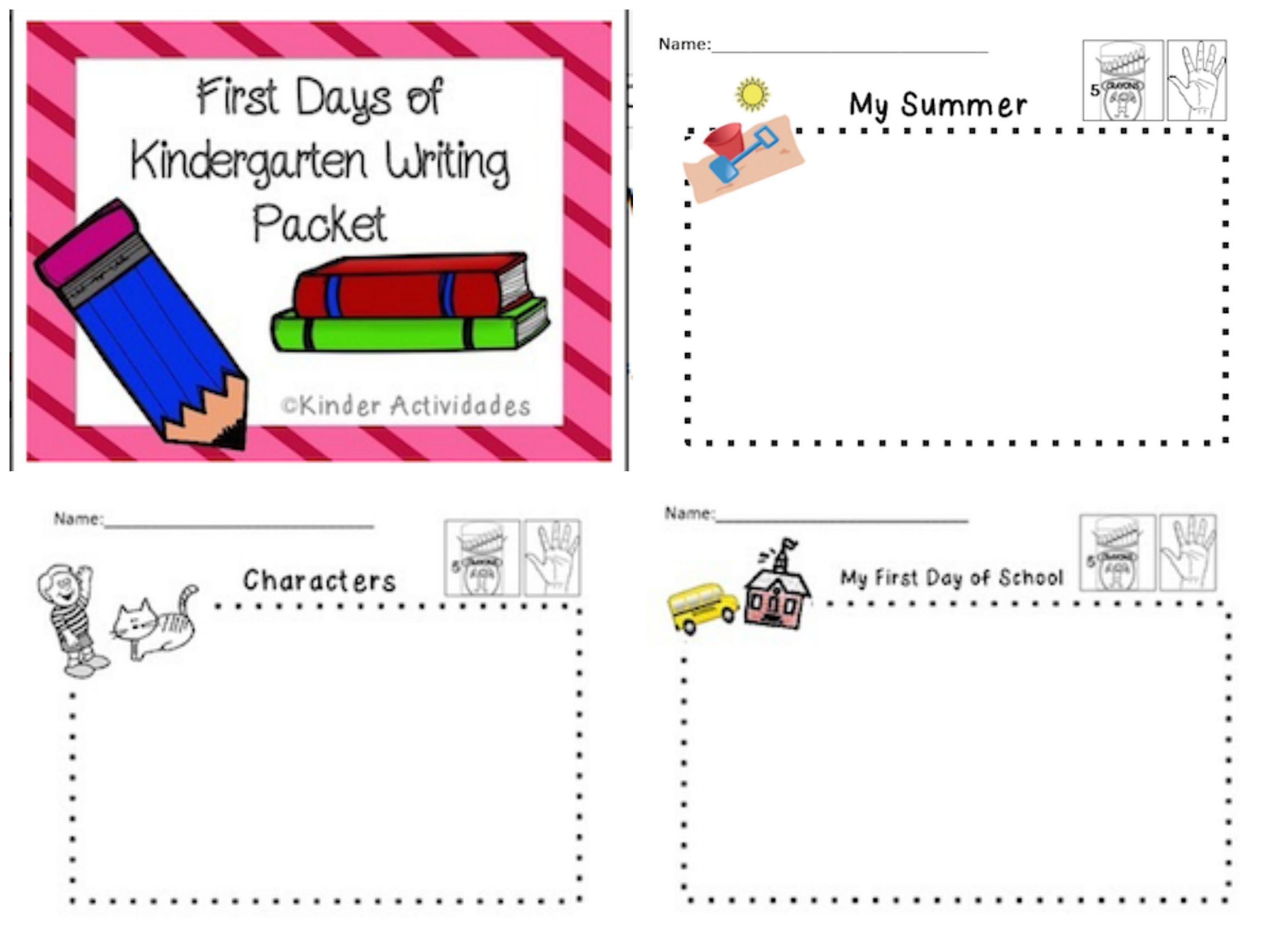 2679x2000 First Days Of Kindergarten Early Writing Packet Kindergarten