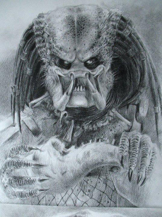 Predator Face Drawing At Getdrawings Com Free For