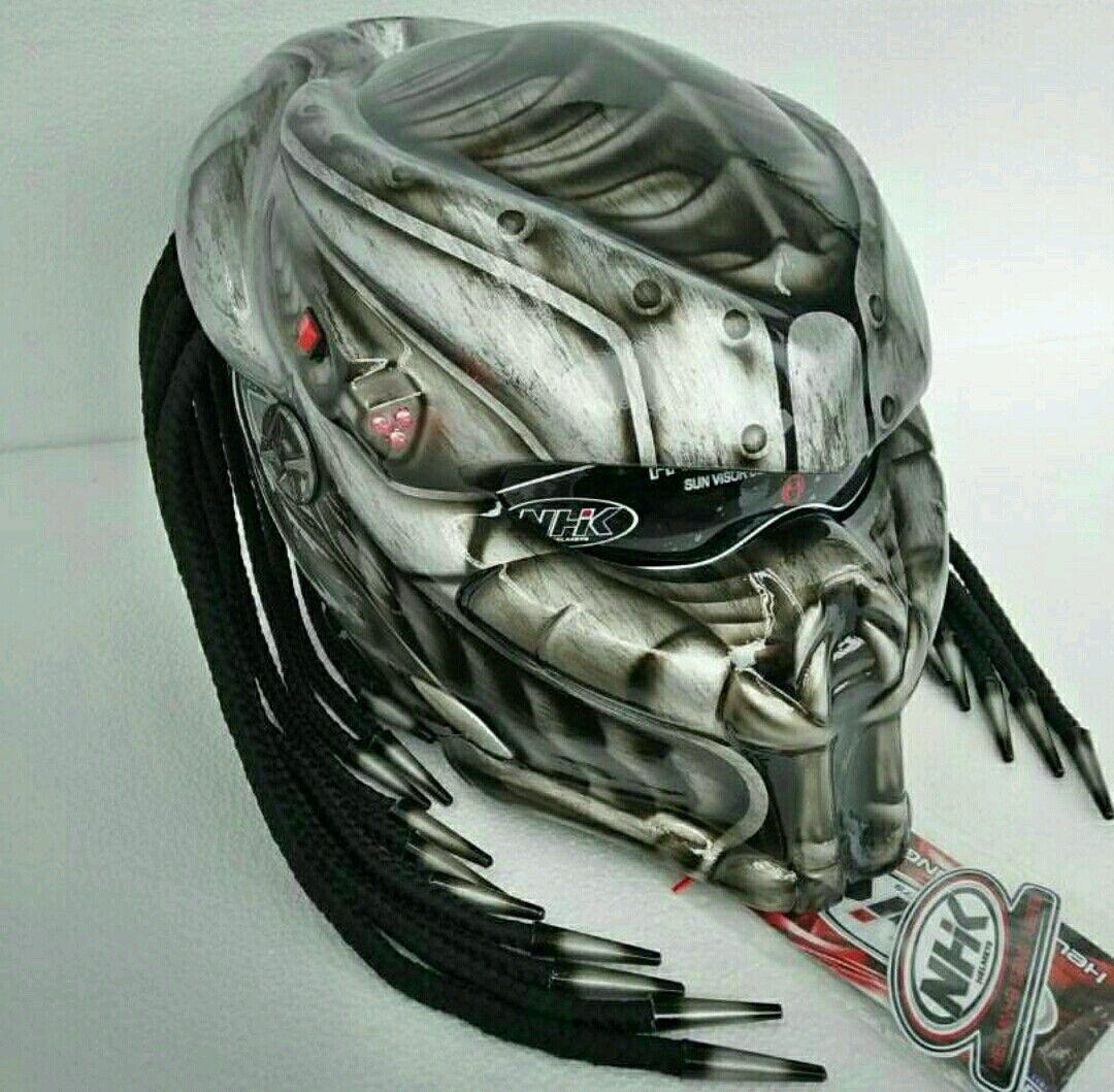 1080x1059 New Design Predator Helmet Iron Motif Dot Approved Predator