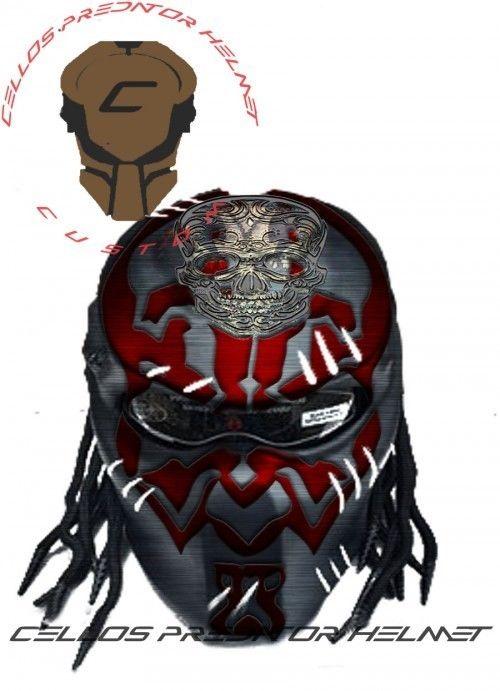 500x691 Predator Helmet Motorcycle Style Dot Approved