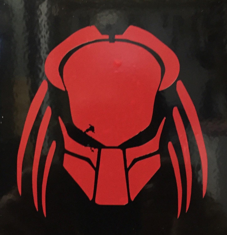 1447x1500 Predator Helmet Vinyl Decal