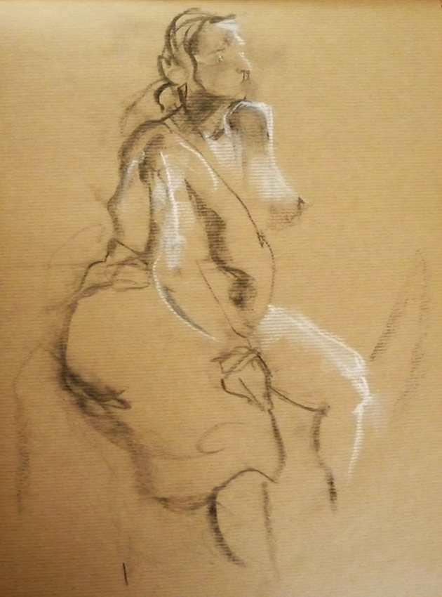 630x850 Claire Gallagher Drawing Pregnancy Life Drawings, Session 3