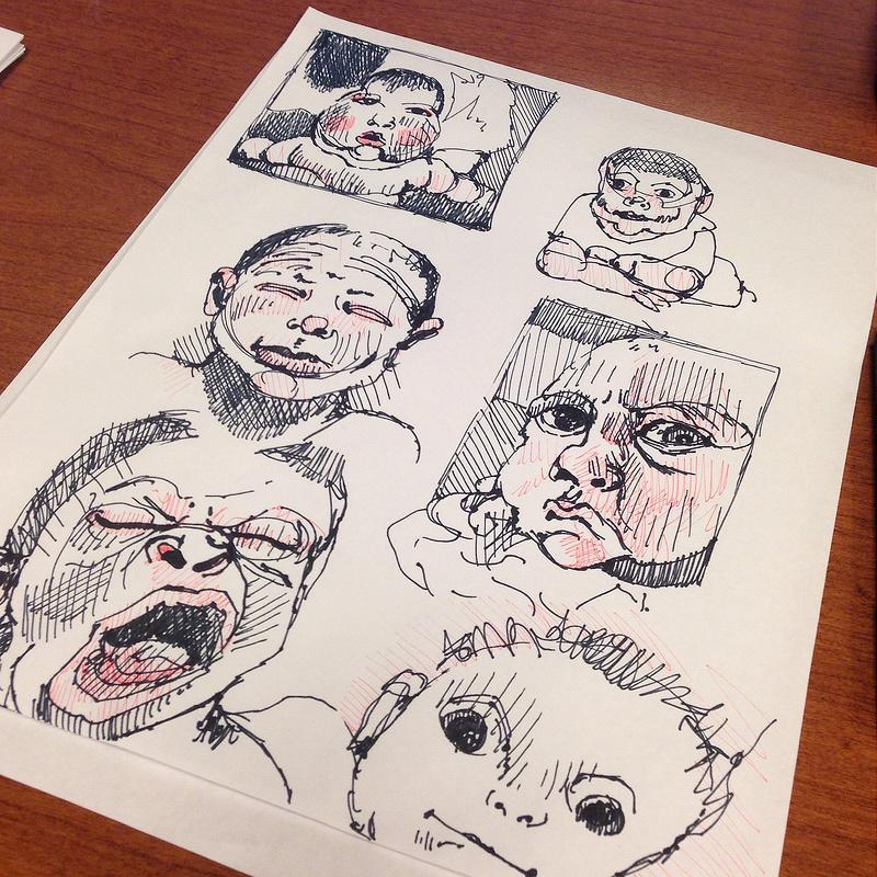 800x800 Hannah March Sanders Assorted Pregnancy Sketchbook Drawings