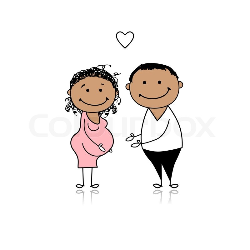 800x800 Happy Parents Waiting For Baby, Pregnancy Stock Vector Colourbox