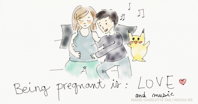 650x341 This Artist Is Documenting Her Pregnancy With Adorable Drawings