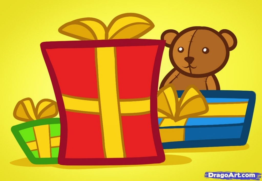 1024x709 Christmas Presents Drawings 13 Best Photos Of Present