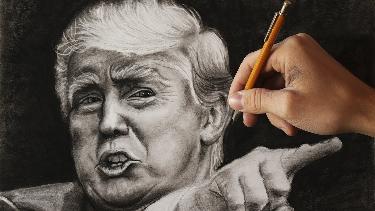 1280x720 Drawing The New President Of Usa Donald Trump