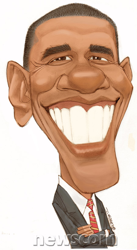 450x822 Barack Obama Caricatures Politics Men Barack Obama