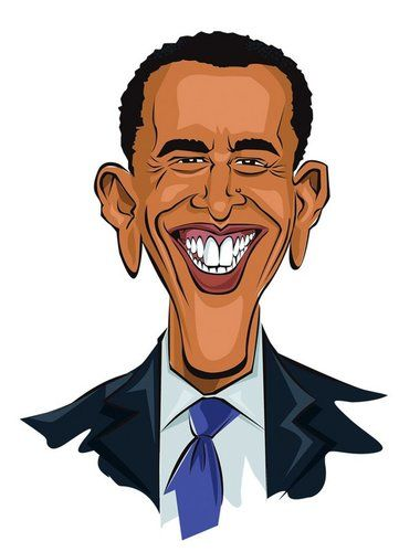 380x500 Character Drawings Of Famous People Cartoon Barack Obama