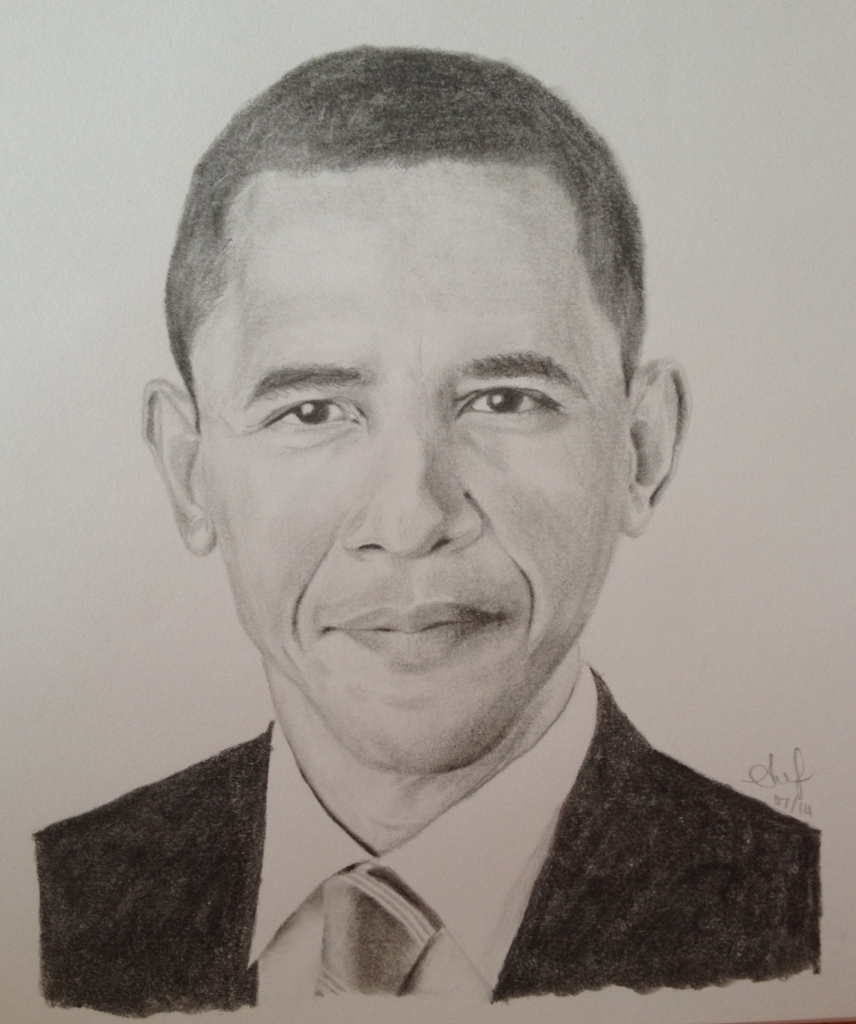 856x1024 Pencil Drawing Of Obama Pencil Portrait Barack Obama Alana Jean39s