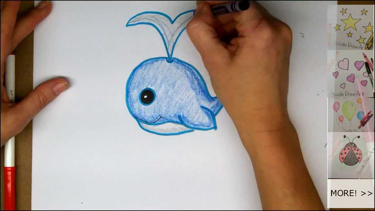 1280x720 Drawing How To Draw A Cute Cartoon Whale