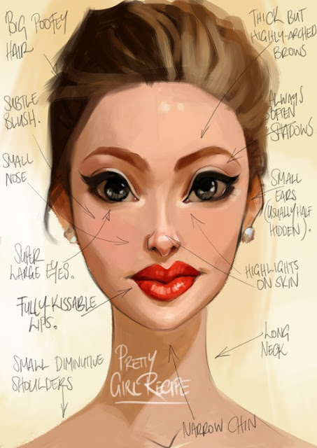pretty face drawing at getdrawings com free for personal use