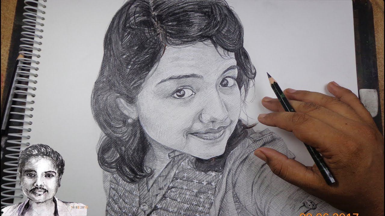 1280x720 Draw A Pretty Face With Pencil Realistic Face Drawing For Expert