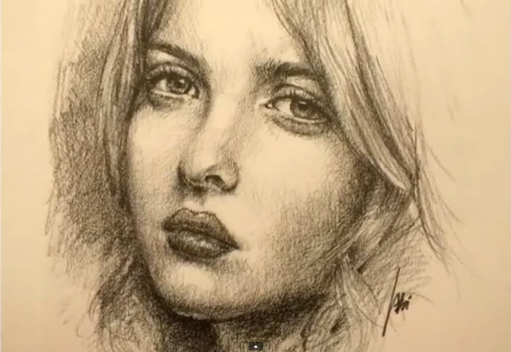 1032x711 How To Draw A Pretty Face With Pencil