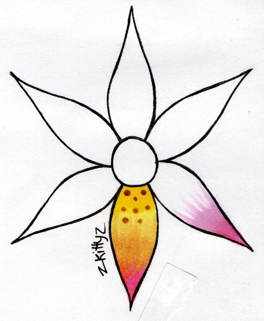 Pretty Flower Drawing At Getdrawings Free For Personal Use