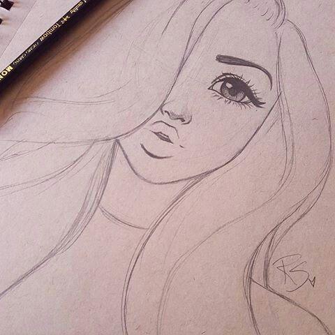 480x480 A Simple And Pretty Drawing Pretty Woman Pretty